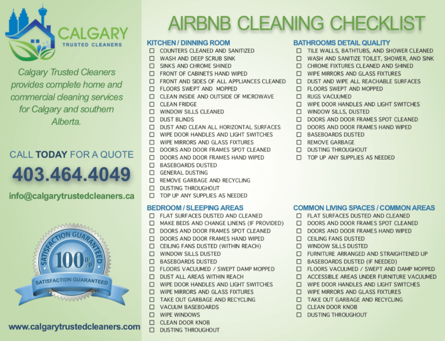 Hire Calgary Trusted Cleaners because we have experience