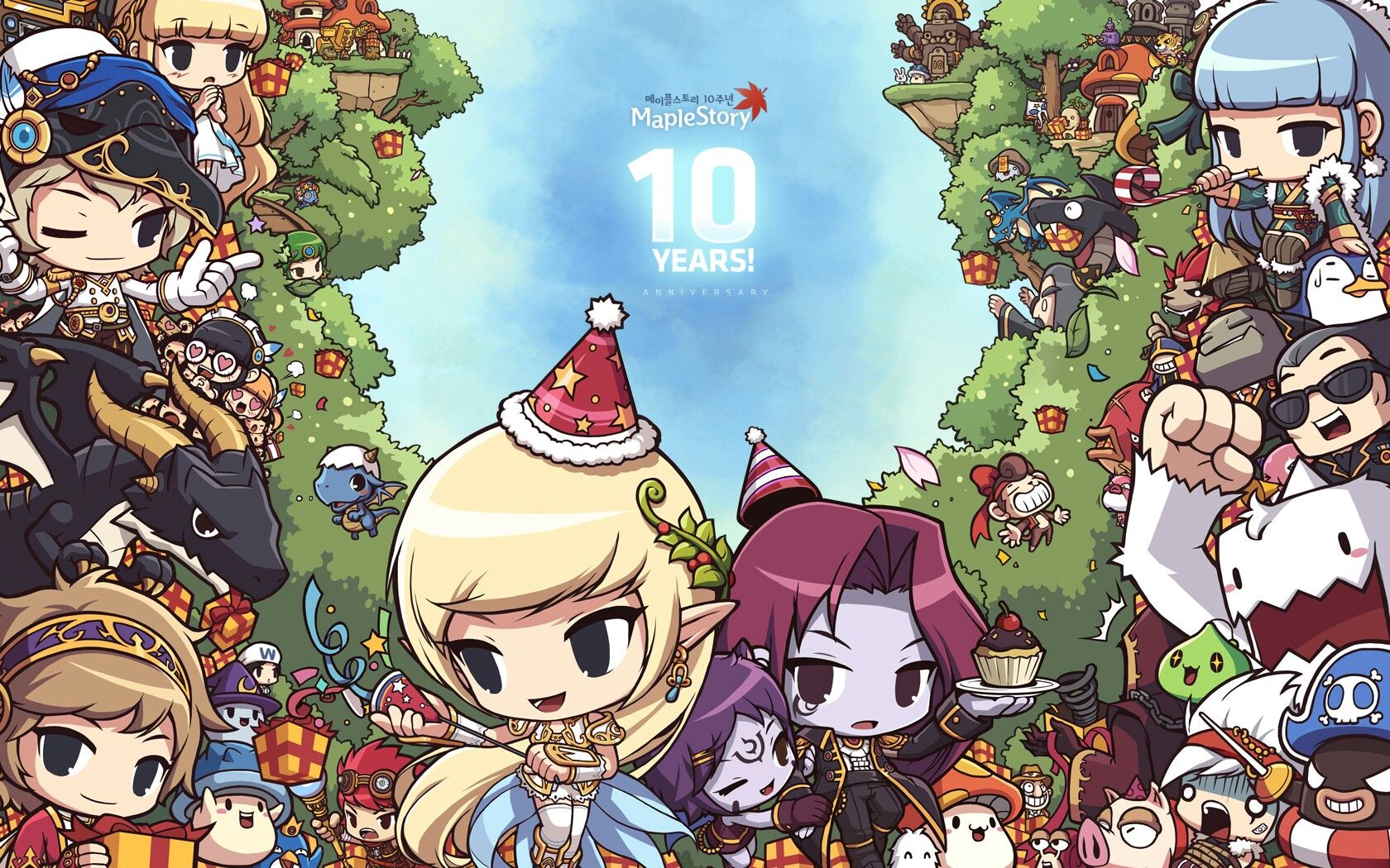 Maplestory 10th Illust Maple Story Chibi Anime