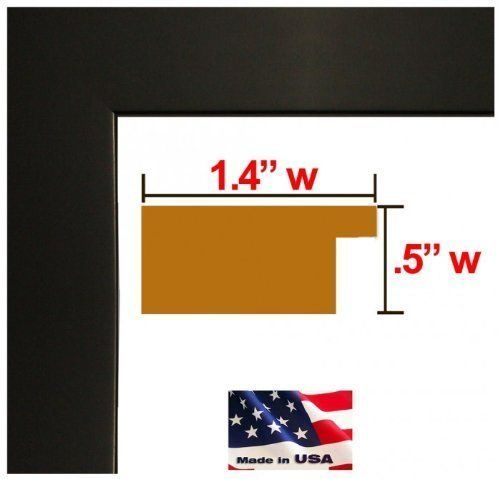 24x28 Custom Made to Order Wrapped Black Picture Poster Frame Solid ...