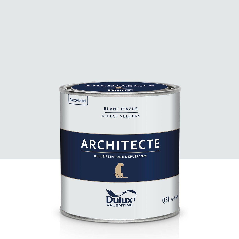 Peinture Blanche Dulux Valentine peinture blanc d'azur velours dulux valentine architecte 0.5