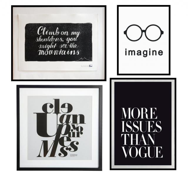 des statement posters en noir et blanc place blog et jolies. Black Bedroom Furniture Sets. Home Design Ideas