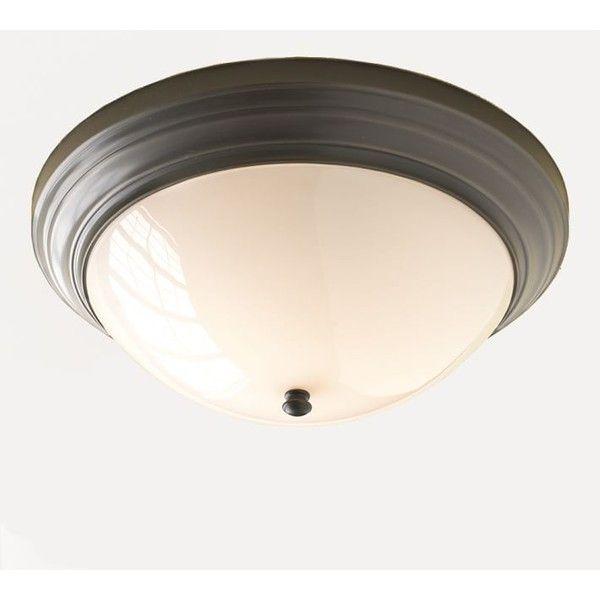 Bathroom Vanity Lights Pottery Barn pottery barn mercer flushmount (£95) ❤ liked on polyvore