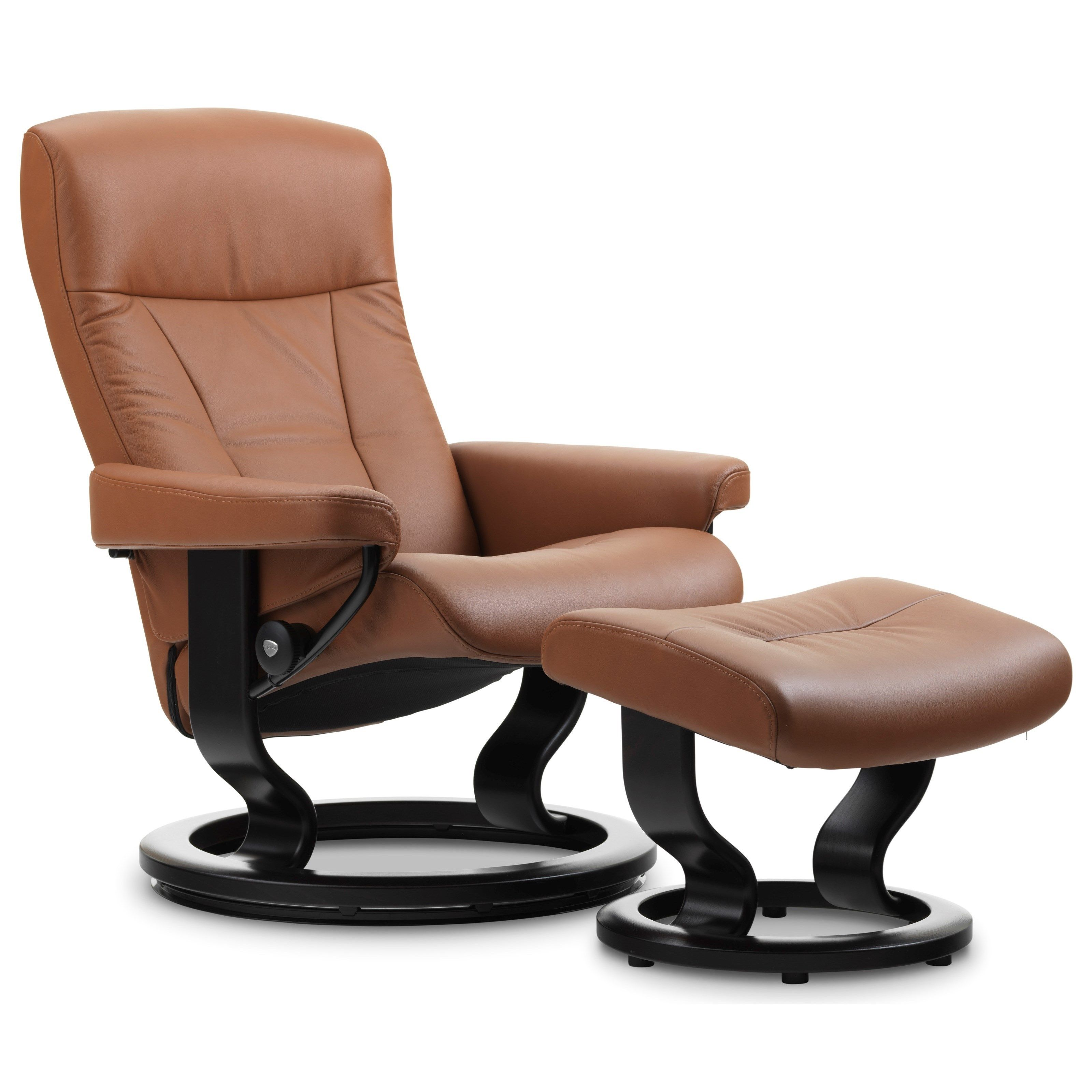 Stressless Recliners Medium Jazz Recliner and Ottoman by