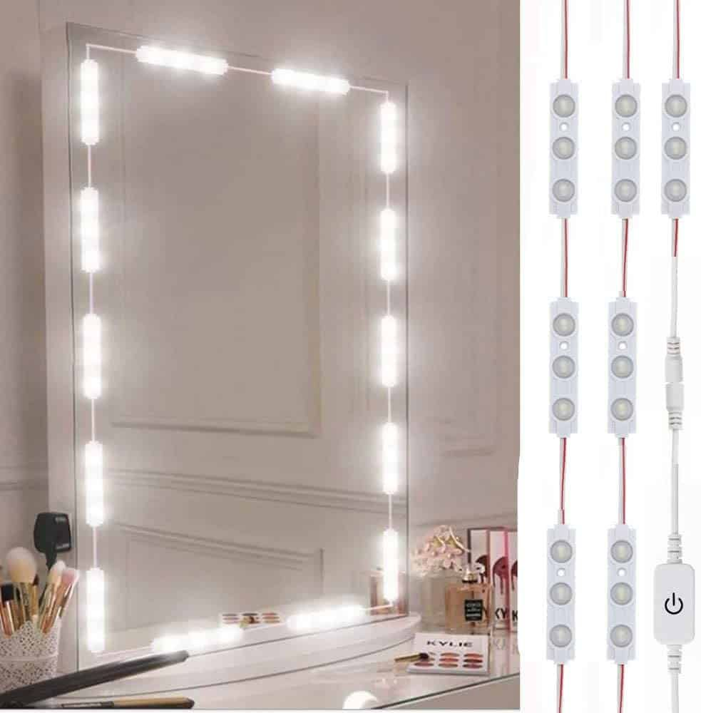17 Creative Hair Salon Lighting Ideas Design Fixtures Lights In 2020 Mirror With Lights Led Vanity Mirror With Led Lights