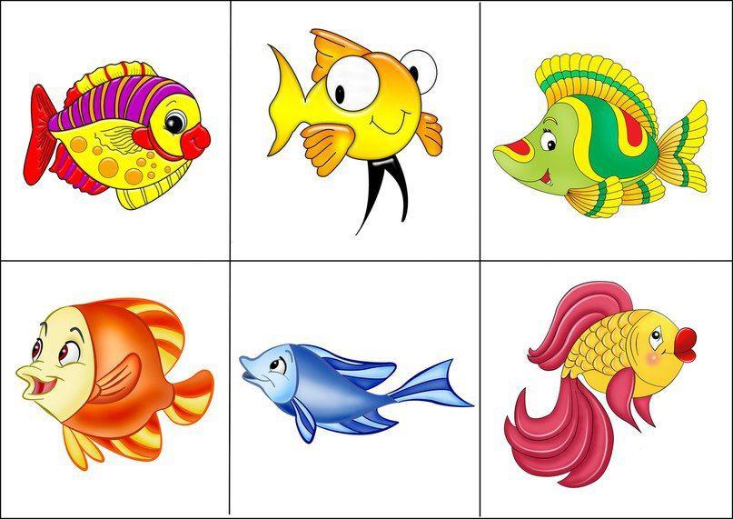 """Imprimimos, plastificamos las peceres y los peces. Podemos jugar o desarrollar atención con órdenes """"Pon el pez azul en la pecera. Busca un pez con cola roja. ¿Dónde está el pez de color verd…"""