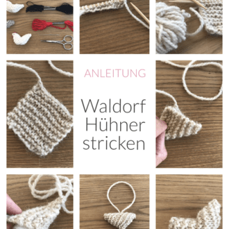 Kleine Waldorf Hühner stricken, Waldorf Bauernhof Strick Anleitung #instructionstodollpatterns