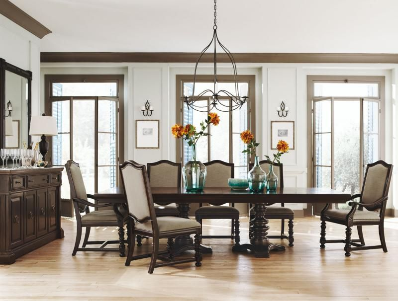 Pacific Canyon Double Pedestal Dining Table  Bernhardt  Dining Beauteous Bernhardt Dining Room Set 2018