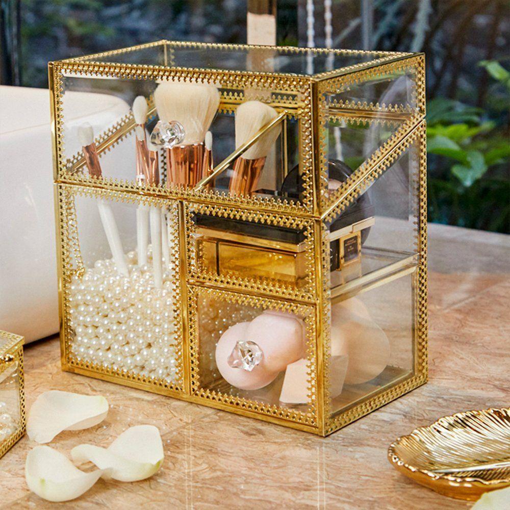 PuTwo Makeup Organizer Handmade Vintage Brass