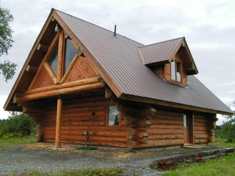 Alaska Log Cabins Home For Sale 34460 Marysville Street