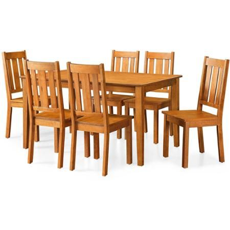 Better Homes And Gardens Bankston 5 Piece Dining Set Honey