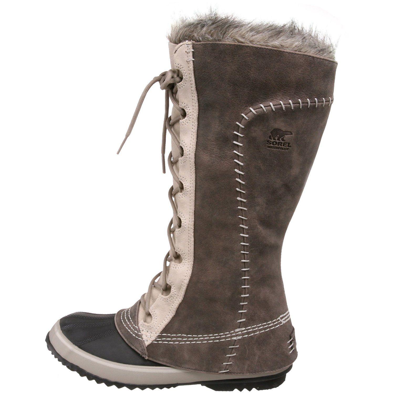 Women's Western Rhinestones Solid Color Waterproof Faux Fur Lined Snow Boots