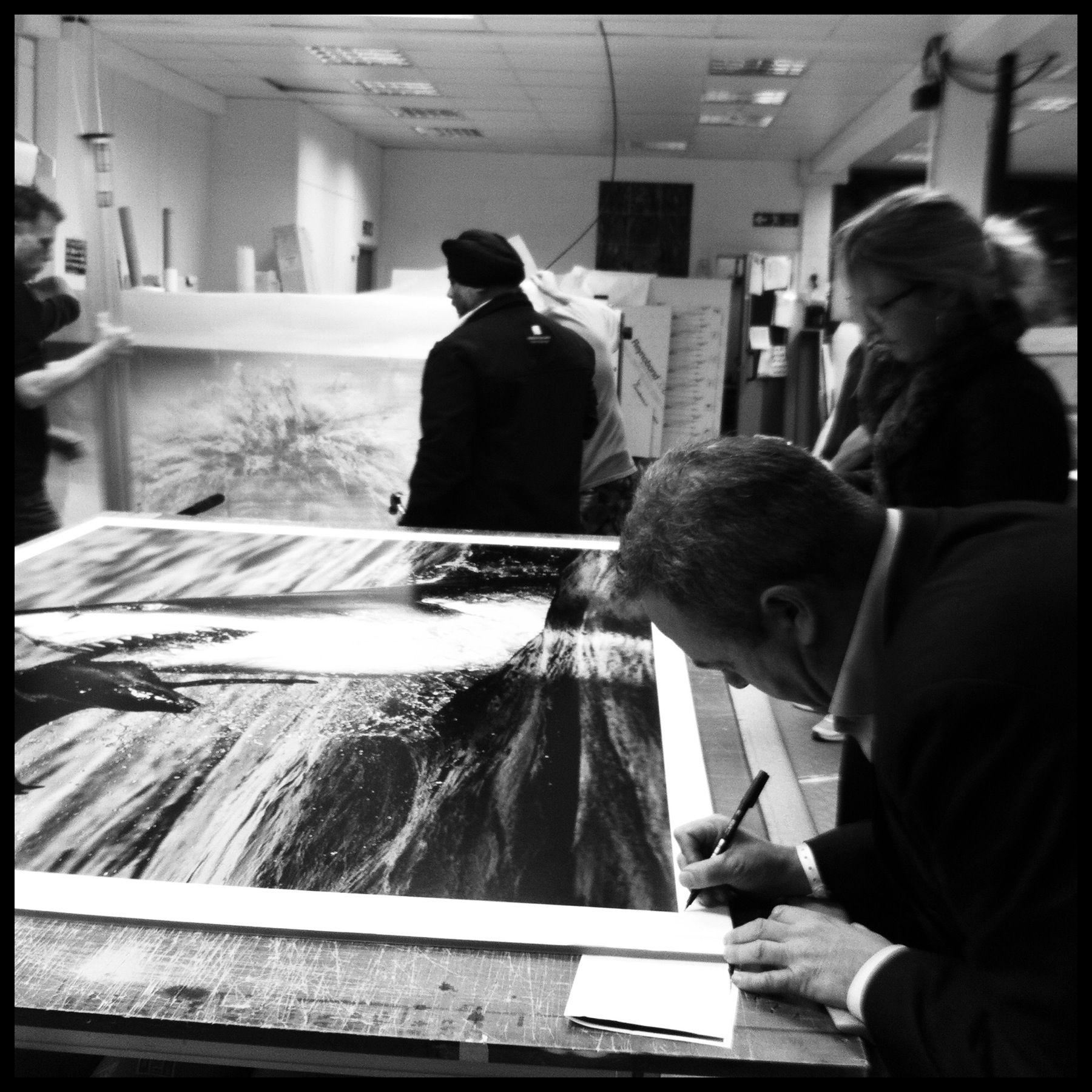 signing prints at genesis imaging ltd davidyarrow prints