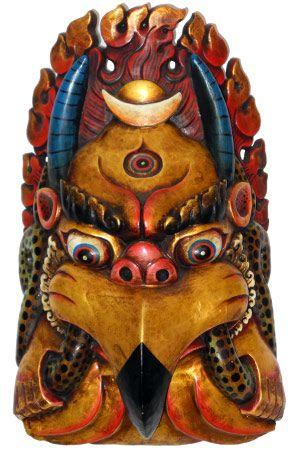 SOLD Tibetan Garuda Mask; King of Birds 19