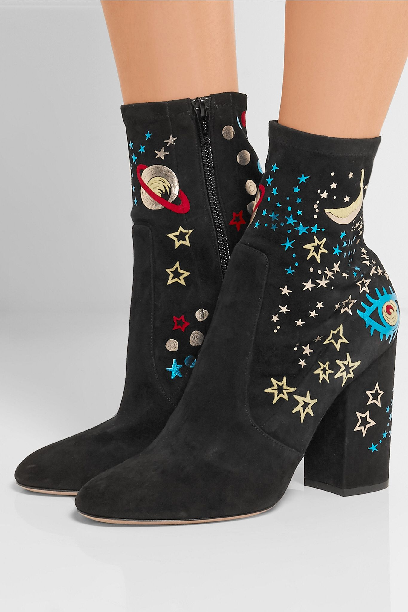 Womens Sequined Sock Ankle Boots Valentino uul3ETggEb