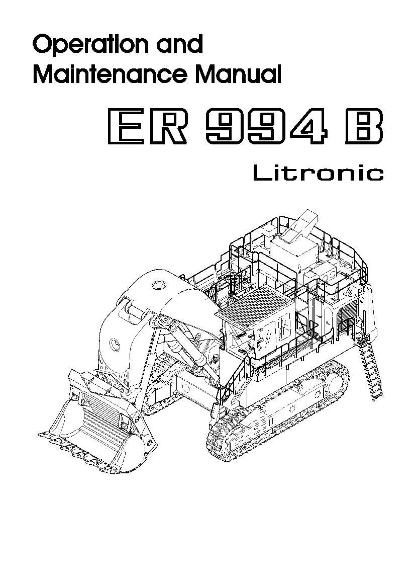 Liebherr R994be 771 12947 Diesel Engine Operating Manual Pdf Download