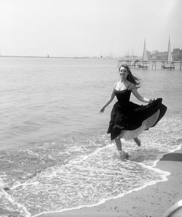 Brigitte Bardot at the Cannes Film Festival, 1955.