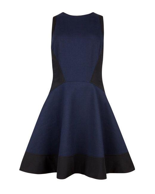 Contrast side dress - Navy | New Season | Ted Baker UK | Wedding ...