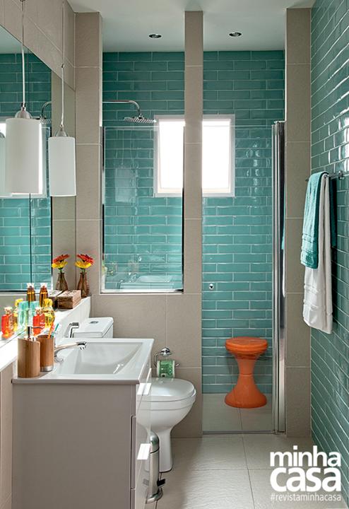banheiro elegante vestido com os azulejos da moda - Azulejos Modernos