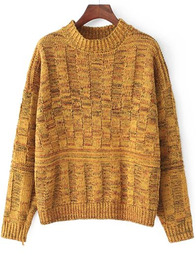 68a3dbe63c3357 Chunky Knit Vintage Yellow Sweater 17.51 | Fall | Yellow sweater ...