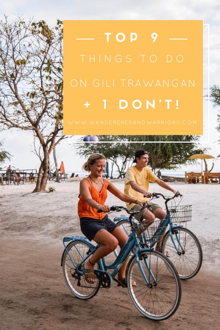 Wanderers & Warriors Pinterest - Charlie & Lauren UK Travel Couple - Things To Do On Gili Trawangan - things to do gili islands