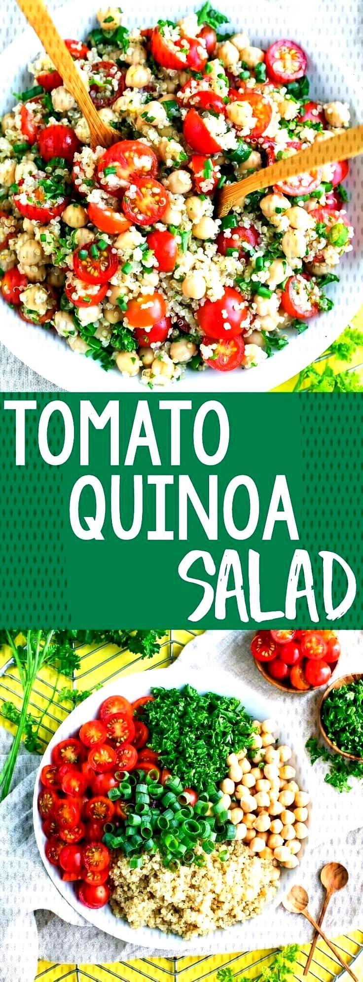 Tomato Quinoa Salad Recipe - Vegan and Gluten-Free - Peas and Crayons -