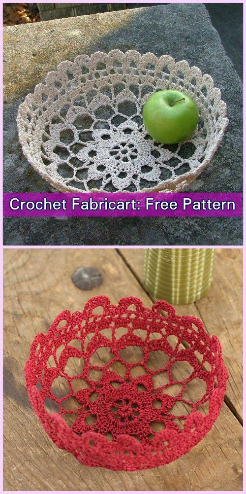 Crochet Lace Bowl Free Patterns | Crochet lace, Filigree and Free ...