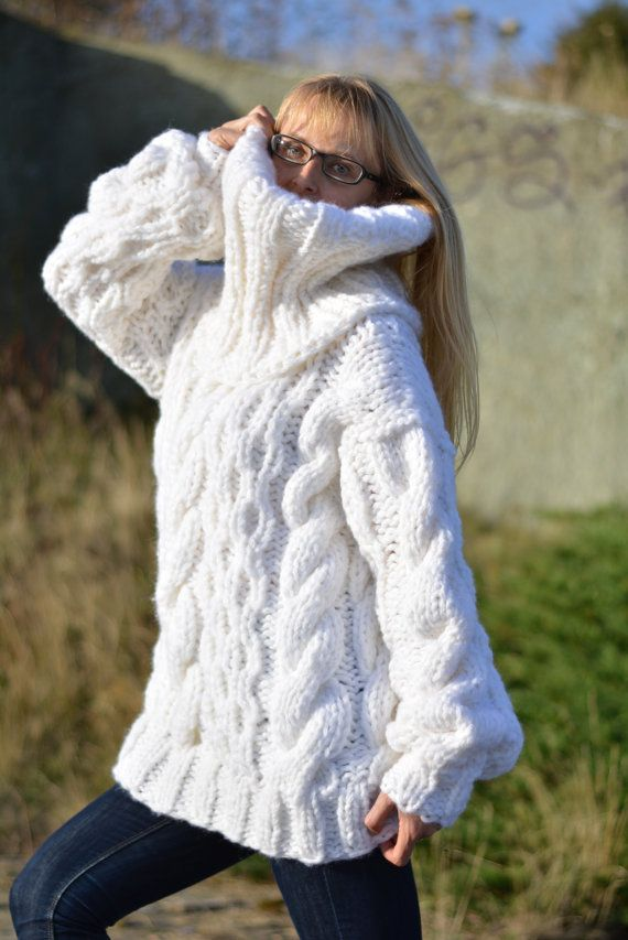 ORDER hand knitted wool sweater handmade tneck jumper hand knitted ...