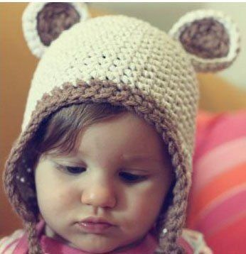 28e2861b4ef9c Gorro Tejido Crochet Oso Bebe Bsf Mercadolibre