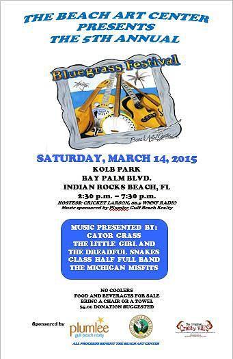 Beach Art Center Indian Rocks Beach   Bluegrass Festival