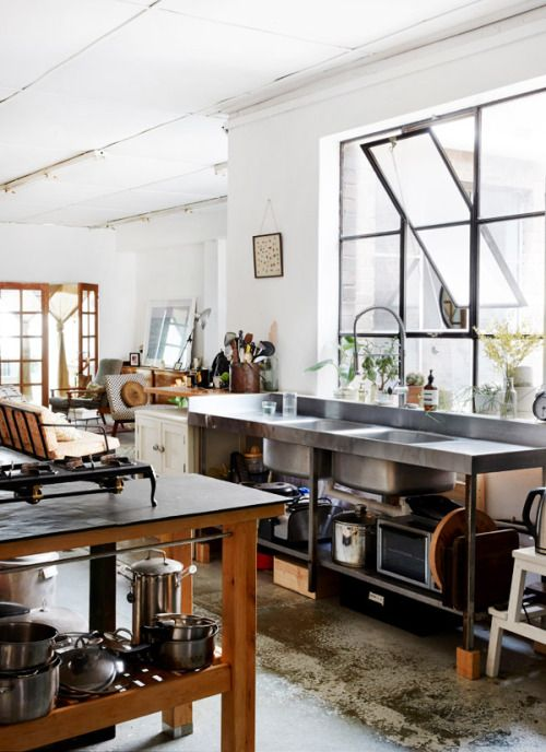 industrial warehouse kitchen, Sydney | hearth and home | Pinterest ...