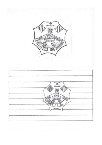 Bandera, escut, murada i 2 fitxes de preguntes sobre Sant Antoni. by juliaallespons, via Slideshare