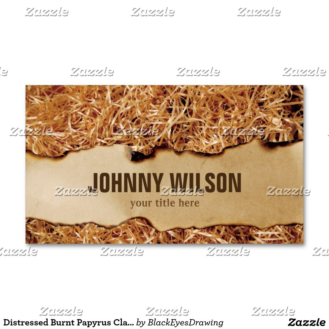 Distressed Burnt Papyrus Classic Business Card   Classic business ...