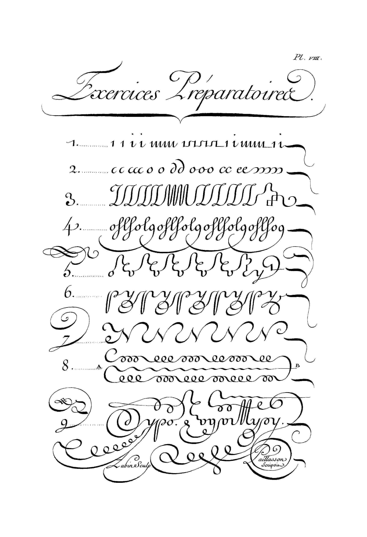Calligraphie Planche Viii