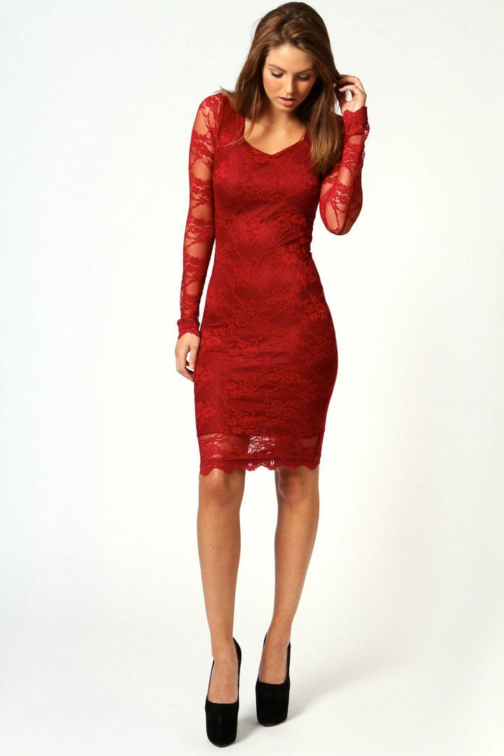 Cocktail Dress | Coeset Lace Long Sleeve 2013 Cocktail Dresses on ...