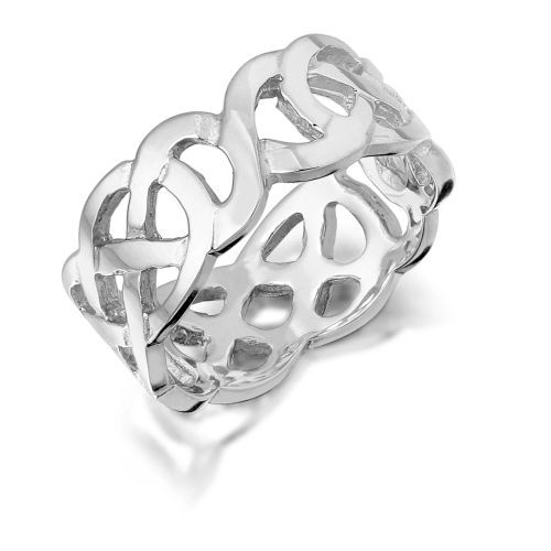 White Gold Celtic Wedding Band 1517w This Beautiful Celtic Ring Is Simple In Design