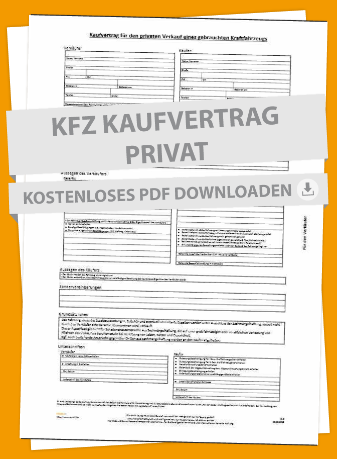 Muster Für Kfz Kaufvertrag I Marktde Marktde Autokauf Kaufen