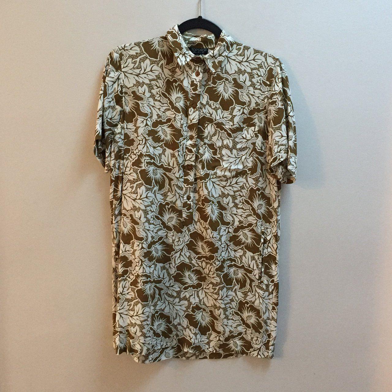 6ba4af49 Topshop Hawaiian shirt dress - Depop Hawaiian, Button Down Shirt, Men  Casual, Topshop