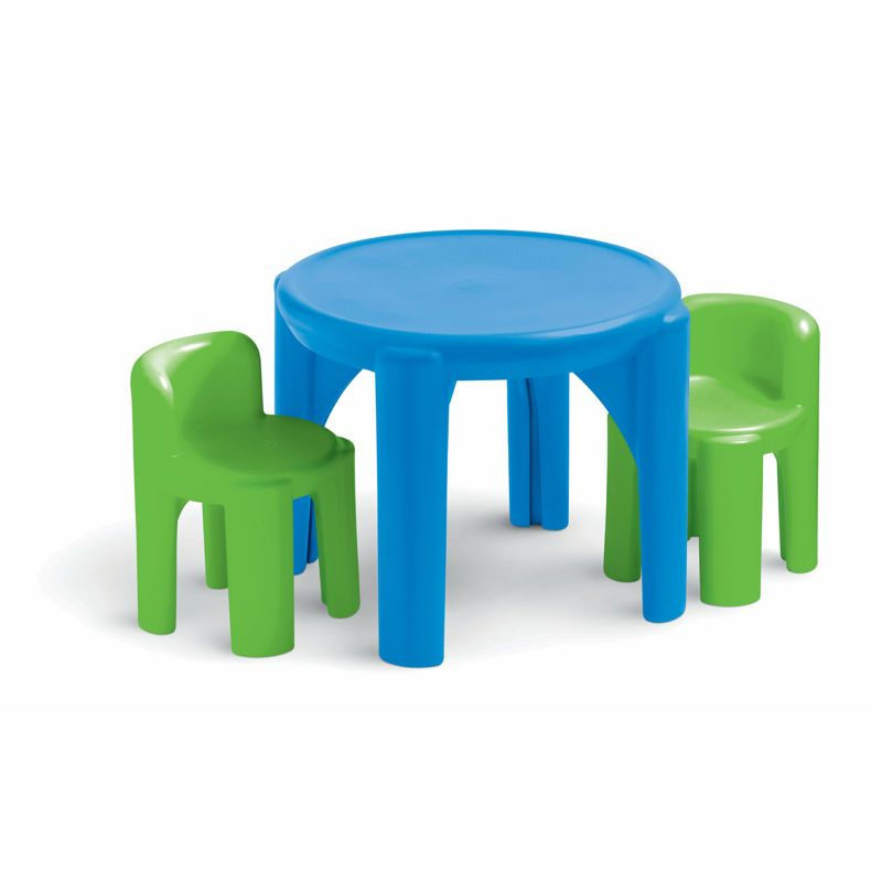 Little Tikes Bright u0027n Bold Table u0026 Chairs Green/Blue. Includes two child-sized chairs. Easy to clean surface. Complements Bright u0027Nu0027 Bold Toy Chest;  sc 1 st  Pinterest & 14 Pint-Size Table-and-Chair Sets Your Kids Will Love | Art desk ...