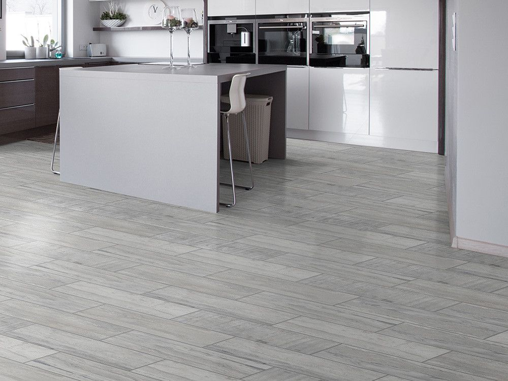 Origins Woodstone Grey Floor Matt Ceramic Floor Tile 600 X 200mm
