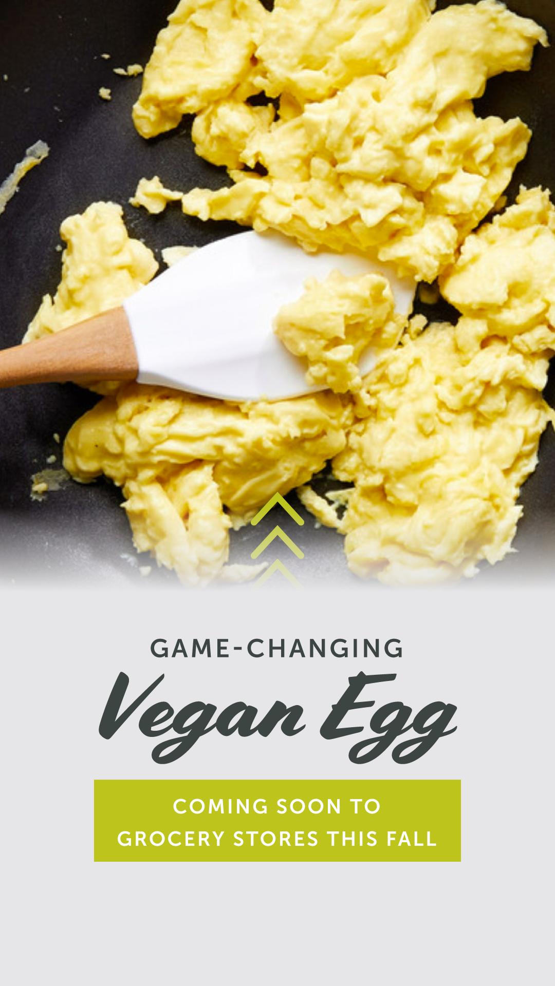 Game Changing Vegan Egg Coming To Grocery Stores This Fall Vegan Eggs Vegan Vegetarian Recipes