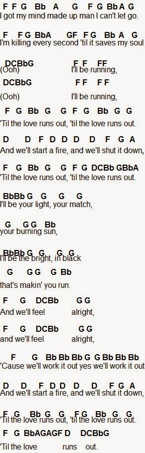 Flute Sheet Music Love Runs Out Flute Sheet Music Oboe Music Piano Songs