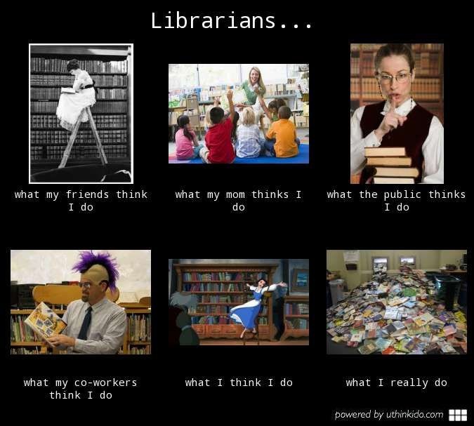 Librarians What People Think I Do What I Really Do Meme Image