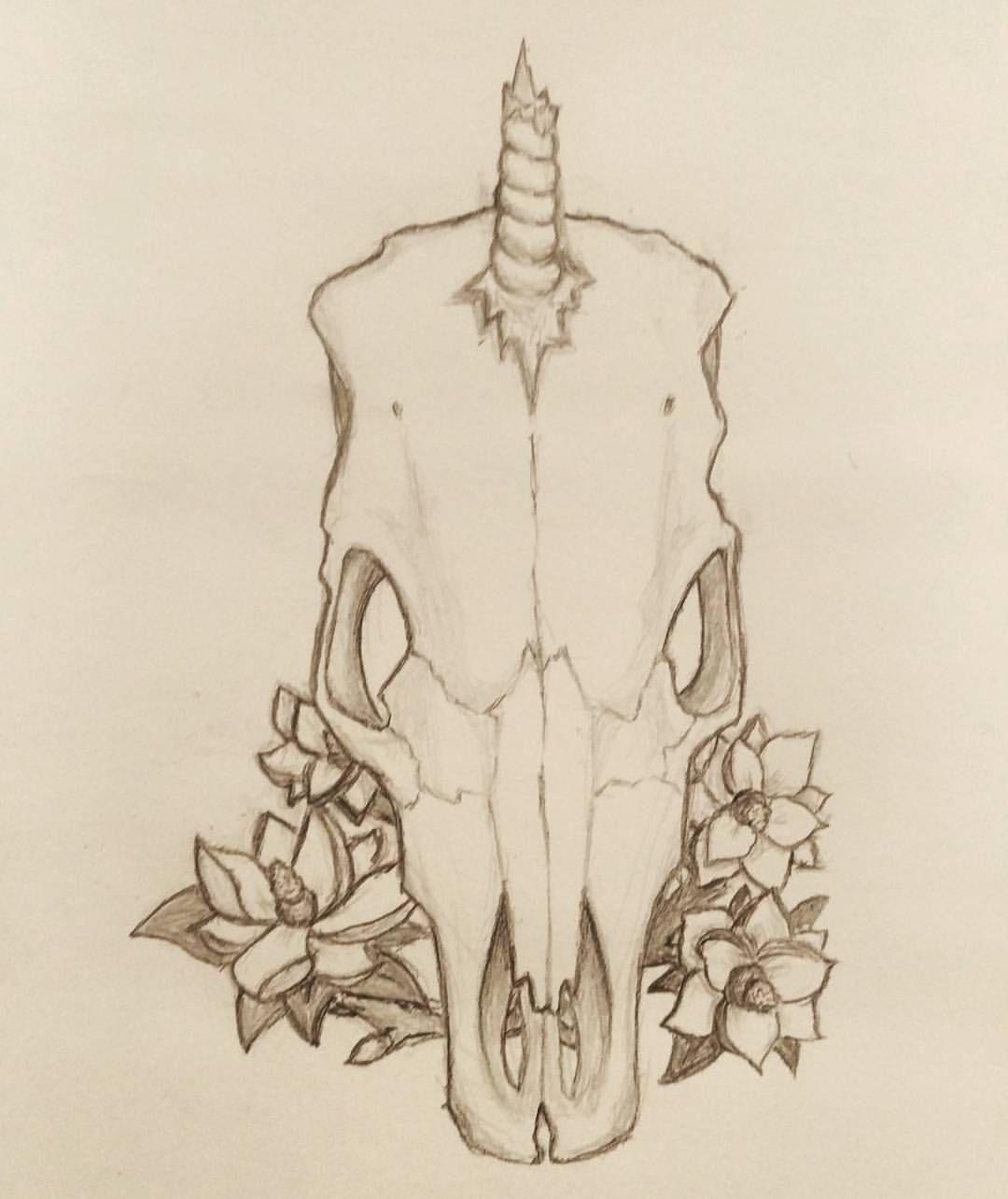 47e7a01b364c0 What does a unicorn skull look like?   We Heart Unicorn Art ...