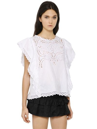 embroidered cotton top from Isabel Marant Étoile