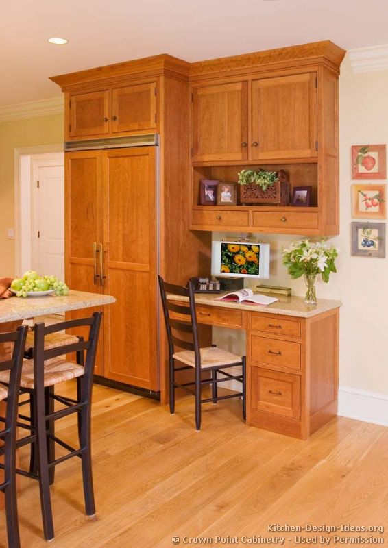 Kitchen Desk Design Ideas Of Kitchens Traditional Light Wood Kitchen Cabinets Kitchen