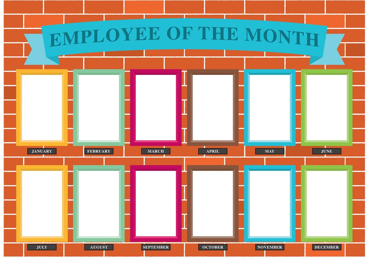 Employee Of The Month Wall Vector Choose From Thousands Of Free Vectors Clip Art Employee Recognition Employee Recognition Board Employee Appreciation Board Employee of the month templates free