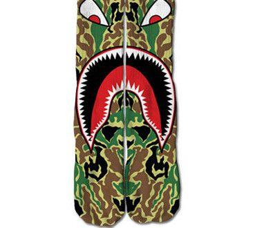 Bape Shark Socks  babizay  a558b58ef2a2