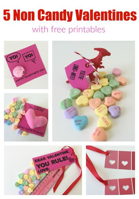 5 Non Candy DIY Valentine's #classroomvalentines #freeprintables #valentinesdayprintables