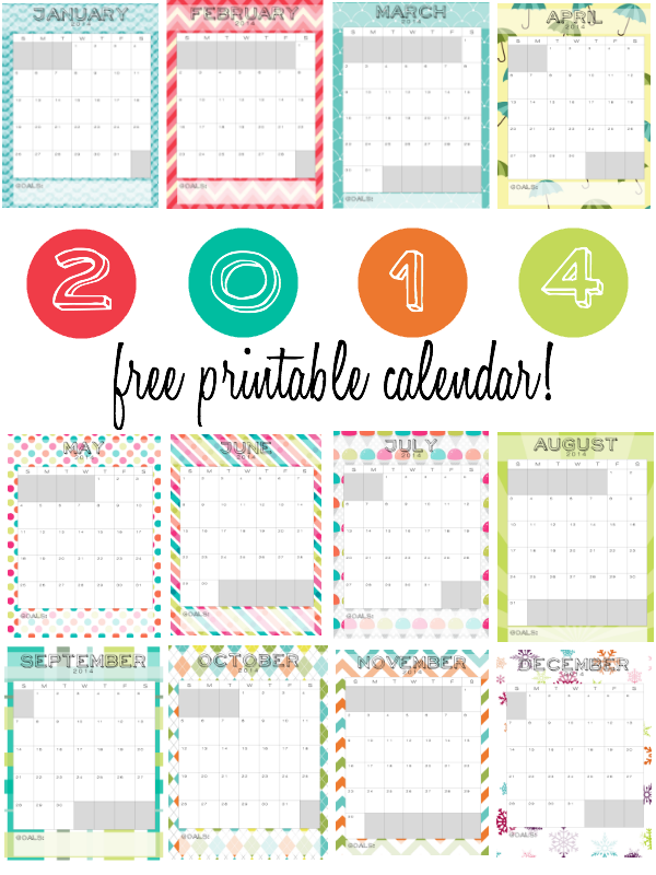2014 Printable Monthly Calendar Sweetbottoms Baby Boutique