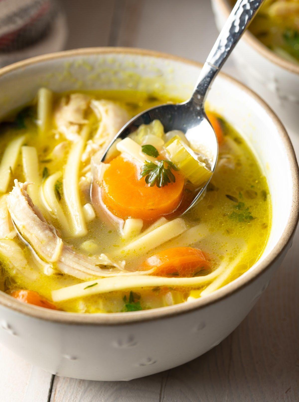 Homemade Chicken Soup Recipe ASpicyPerspective Chicken